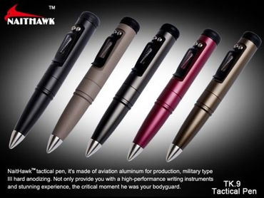 Naithawk TK.9 schwarz tactical defense pen – Bild 2