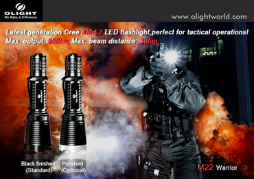 Olight M22 Warrior Special Operation XM-L2 LED blackfinish – Bild 2