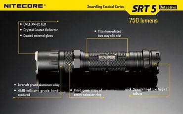 NiteCore SRT5 XM-L2 LED Lampe mit SmartRing und Multicolor LEDs – Bild 9