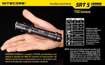NiteCore SRT5 XM-L2 LED Lampe mit SmartRing und Multicolor LEDs – Bild 10
