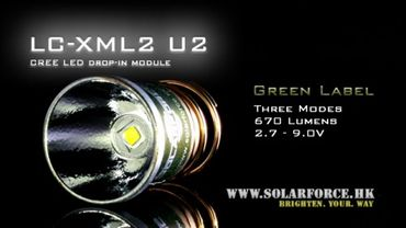Solarforce XM-L2 U2 LED Modul Dropin - 3 Stufen – Bild 1