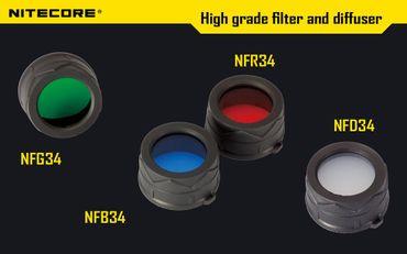Nitecore Farbfilter Filter 34mm NFD NFR NFG NFB 34 – Bild 1