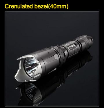 NiteCore Edelstahlkrone Combat Crenulated Bezel 40 mm – Bild 7
