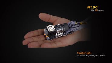 Fenix HL50 Neutral White Kopflampe mit starke 385 Lumen für 1 x CR123 Batterie oder AA Mignon – Bild 3