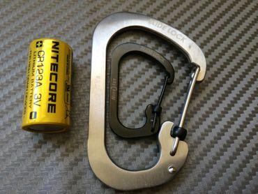 Nite Ize Carabiner Gr. 4 SlideLock Steel Karabiner - silber – Bild 7