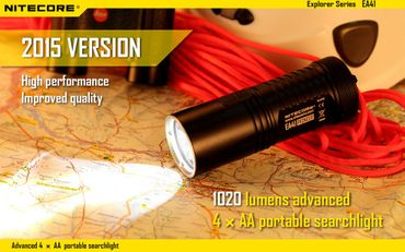 Nitecore EA41 Pioneer neue Version 2015 für 4 Mignon AA Batterien mit 1020 LUMEN – Bild 1
