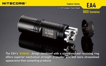 Nitecore EA4 Pioneer für 4 Mignon AA Batterien inkl Ladegerät I4 - Weltmeister ANGEBOT – Bild 4
