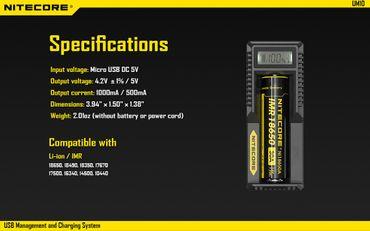 Nitecore UM10 USB Ladegerät für Li-Ionen Akkus mit LCD Display – Bild 8