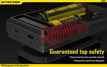 Nitecore UM20 USB 2 Schacht Ladegerät für Li-Ionen Akkus – Bild 6