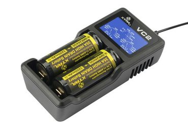 Xtar VC2 USB 2 Schacht Ladegerät für Li-Ionen Akkus – Bild 1