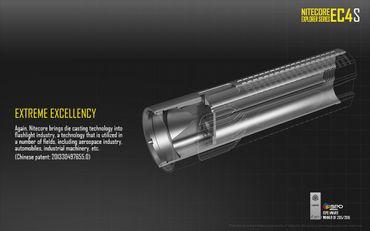NiteCore EC4S XH-P50 LED Taschenlampe 2150 Lumen – Bild 9