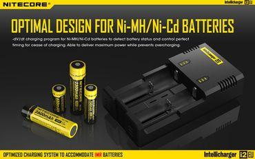 Nitecore Sysmax Intellicharge i2EU Ladegerät für 2 Akkus Li-Ionen oder Ni-Mh - neue EU Version – Bild 4