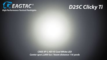 EagTac D25C Clicky 2015 Titan limited Edition neu mit XP-L HD LED – Bild 6