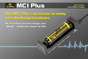 USB Reise Ladegerät Xtar MC1 Plus für Li-Ionen bis 1000mAh – Bild 1
