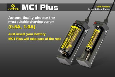 USB Reise Ladegerät Xtar MC1 Plus für Li-Ionen bis 1000mAh – Bild 2