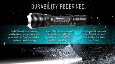 Olight M23 Javelot XP-L LED LED Taschenlampe bis 1020 Lumen – Bild 3