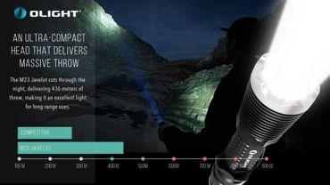 Olight M23 Javelot XP-L LED LED Taschenlampe bis 1020 Lumen – Bild 7