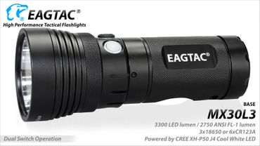 EagTac MX30L3 CREE XH-P50 Dual Switch Profi Lampe mit neutral white - KIT – Bild 4