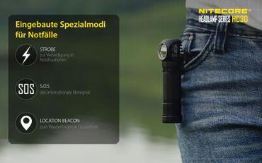 Nitecore HC30 XM-L2 LED Kopflampe für 18650er Akku – Bild 7