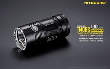 Nitecore TM06S Tiny Monster QuadRay XM-L2 U3 mit 4000 Lumen – Bild 1