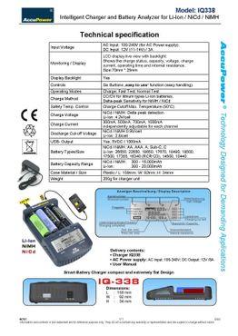 AccuPower Universal IQ338 Ladegerät mit USB-Ausgang Li-Ion/Ni-Cd/Ni-MH - EU Version – Bild 4