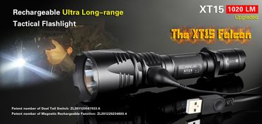 Klarus XT15 Falcon Upgraded XP-L Hi 1020 Lumen Taschenlampe ultra long-range – Bild 1