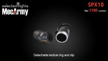selected-lights MecArmy Tactical flashlight SPX10 mit einzigartigem 360 grad Schalter – Bild 7