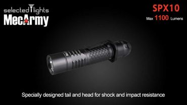 selected-lights MecArmy Tactical flashlight SPX10 mit einzigartigem 360 grad Schalter – Bild 2