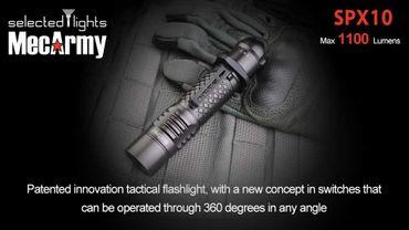 selected-lights MecArmy Tactical flashlight SPX10 mit einzigartigem 360 grad Schalter – Bild 6