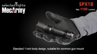 selected-lights MecArmy Tactical flashlight SPX18 mit einzigartigem 360 grad Schalter – Bild 8