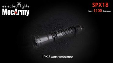 selected-lights MecArmy Tactical flashlight SPX18 mit einzigartigem 360 grad Schalter – Bild 1