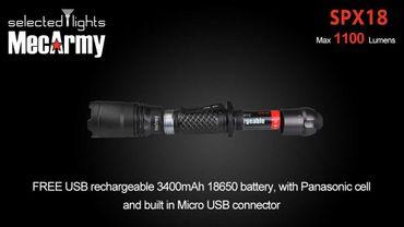 selected-lights MecArmy Tactical flashlight SPX18 mit einzigartigem 360 grad Schalter – Bild 5