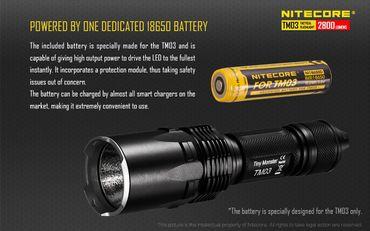 Nitecore TM03 XH-P70 LED 2800 Lumen IMR18650 – Bild 2