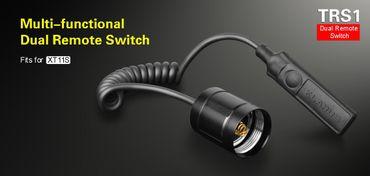 Klarus TRS1 Kabelschalter Fernschalter für XT11S XT11GT (Spiral Kabel) – Bild 1