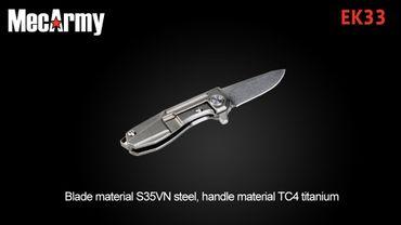 MecArmy EK33 MICRO MESSER Titanium – Bild 3