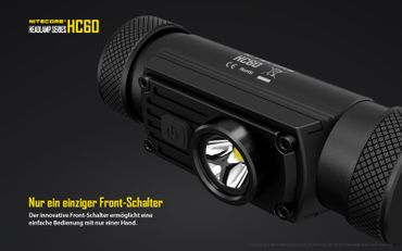 Nitecore HC60W 1000 XM-L2 LED Kopflampe aufladbar für 18650er Akku -neutral white – Bild 6