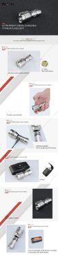 selected-lights MecArmy PT16 TI wiederaufladbar 1200 Lumen TITAN - für 16340 / 18350 Akku – Bild 8