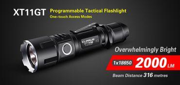 Klarus XT11GT XHP35 HD E4 LED 2000 Lumen aufladbare universal Taschenlampe – Bild 1