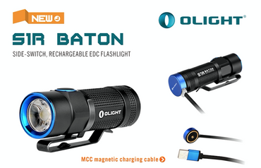Olight S1R BATON XM-L2 LED 900 Lumen - aufladbar EDC Light – Bild 1