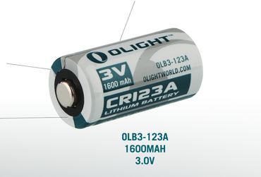 Olight Lithium Photo Batterie CR123A  3 Volt - 2 Stk. – Bild 1