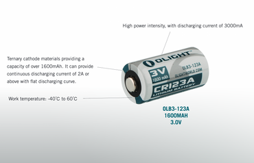 Olight Lithium Photo Batterie CR123A  3 Volt - 2 Stk. – Bild 2