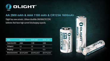Olight Lithium Photo Batterie CR123A  3 Volt - 2 Stk. – Bild 4