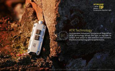 Nitecore TIP CRI aufladbare Schlüsselanhängerlampe 240 Lumen -titangrau – Bild 11