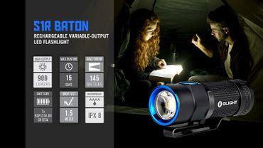 Olight S1R TurboS Baton XM-L2 LED 900 Lumen - aufladbar EDC Light – Bild 6