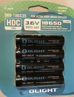 Olight HDC 10A 18650er High-Drain Akku mit 3500 mAh geschützt - 4er Pack – Bild 2