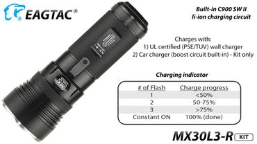 EagTac MX30L3R CREE XH-P70 NW 3900 Lumen - KIT aufladbar neutral white LED – Bild 9