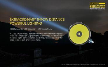 Nitecore R40 XP-L Hi Taschenlampe mit induktions Ladestation 520 m Leuchtweite – Bild 6
