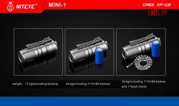 Niteye Mini- TI USB LED Akku Lampe bis 130 Lumen – Bild 9