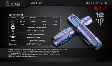 Niteye Jet ST limitierte 18650er Taschenlampe aus Titan - Sonderpreis – Bild 10