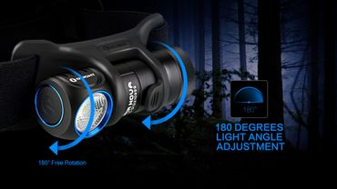 Olight H1R Nova - 600 Lumen EDC und Head Light -cool white aufladbar! – Bild 3